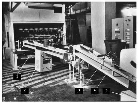 Линия укладки тестовых заготовок в расстойный шкаф Ш24-ХПБ