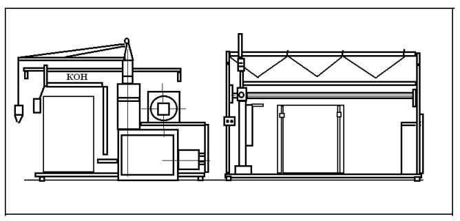 Машина для обвязки пакет-поддонов Ш24-АЛУ